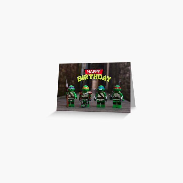Teenage Mutant Ninja Turtles themed Birthday Card Greeting Card