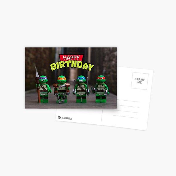 Teenage Mutant Ninja Turtles themed Birthday Card Postcard