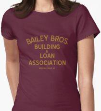 Bailey Brothers Gebäude und Darlehen Tailliertes T-Shirt für Frauen