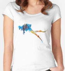 Man scuba diver 01 in watercolor Women's Fitted Scoop T-Shirt