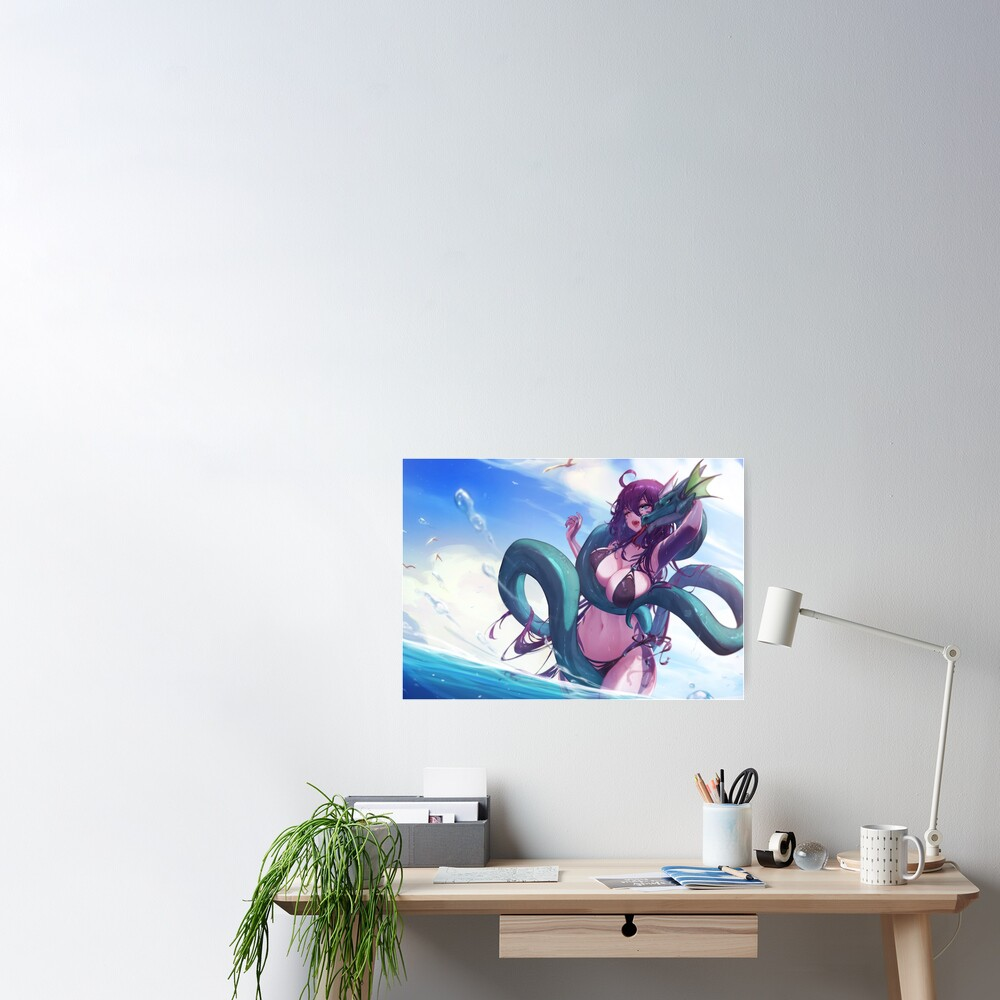 Monster girl at the beach Poster