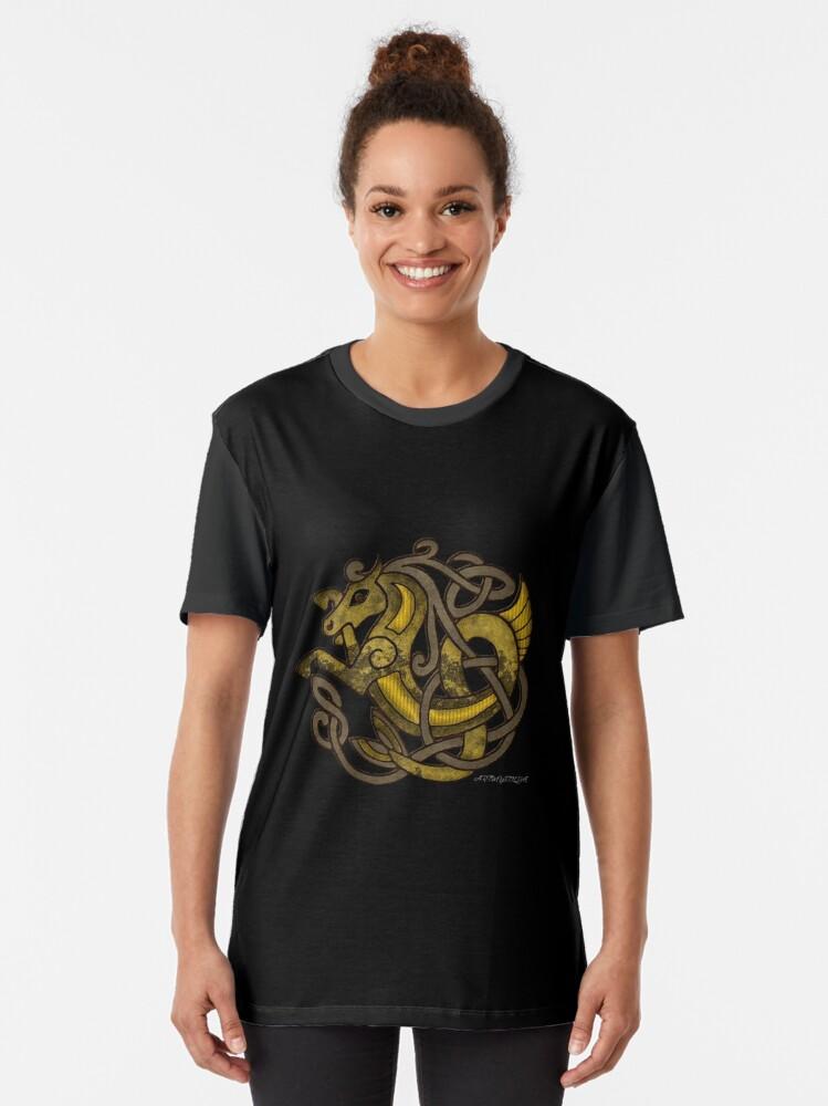 Alternate view of Celtic Water Kelpie Graphic T-Shirt
