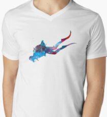 Man scuba diver 03 in watercolor T-Shirt