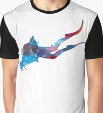 Man scuba diver 03 in watercolor Graphic T-Shirt