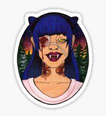 Vampire Girls Will Never Hurt You Sticker