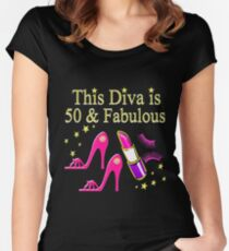 DAZZLING AND FABULOUS 50 YEAR OLD Women's Fitted Scoop T-Shirt