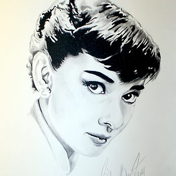Audrey Hepburn portrait by Iroek