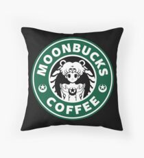 Moonbucks Coffee Throw Pillow
