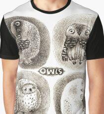 Four cute Owls Graphic T-Shirt