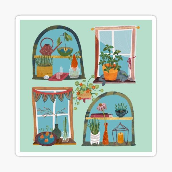 Windowsill Gardens Sticker