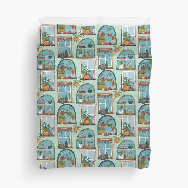 Windowsill Gardens Duvet Cover