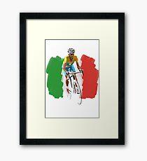 Maillot Jaune , Italy Flag Framed Print