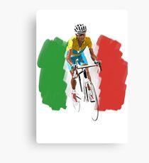 Maillot Jaune , Italy Flag Canvas Print