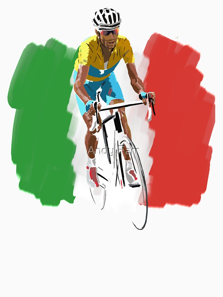 Maillot Jaune , Italy Flag by AndyFarr