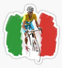 Maillot Jaune , Italy Flag Sticker