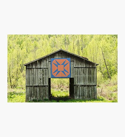 Kentucky Barn Quilt - Happy Hunting Ground Photographic Print