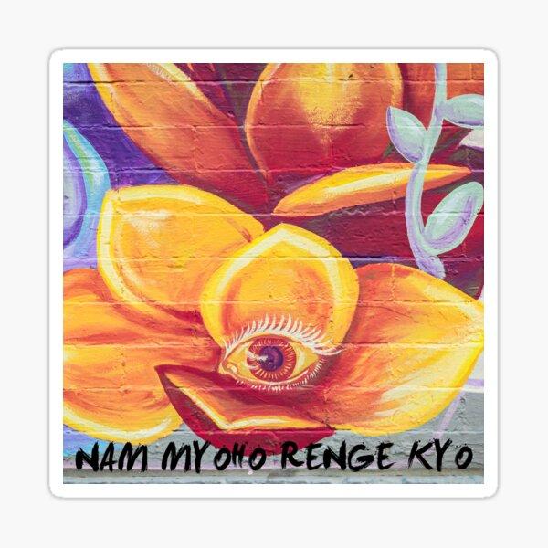 Nam Myoho Renge Kyo Third Eye Flower Mural Sticker