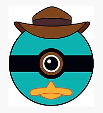 Perry the Platypus Pokemon Ball Mash-up Photographic Print