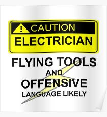 CAUTION - ELECTRICIAN Poster
