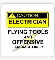 CAUTION - ELECTRICIAN Sticker