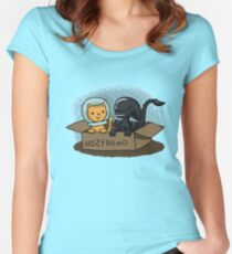 Kitten and Alien Women's Fitted Scoop T-Shirt