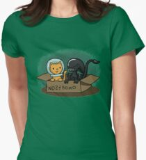 Kitten and Alien Women's Fitted T-Shirt