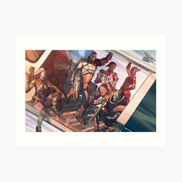 Mass Effect crew on a mission Art Print