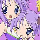 Hiiragi Tsukasa & Hiiragi Kagami (Lucky Star) by Xing7