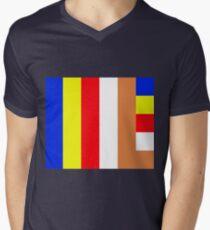 Buddhism Flag Men's V-Neck T-Shirt