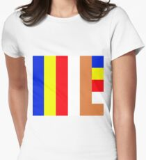 Buddhism Flag Womens Fitted T-Shirt