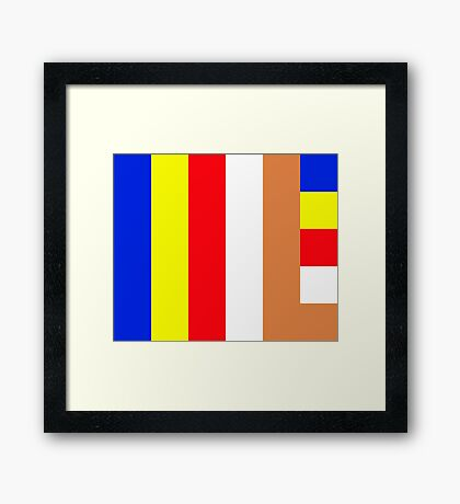 Buddhism Flag Framed Print