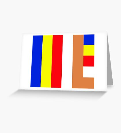 Buddhism Flag Greeting Card