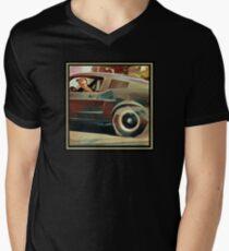 Bullitt Steve McQueen Mustang Men's V-Neck T-Shirt