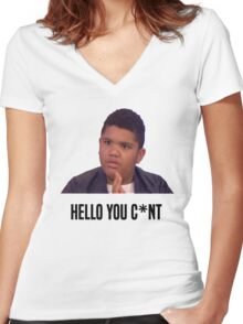 Hello You C*nt | Harvey Price Women's Fitted V-Neck T-Shirt