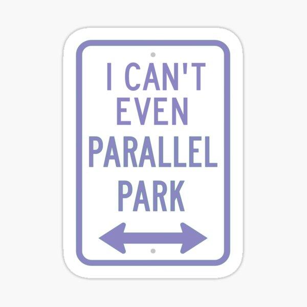 Olivia Rodrigo I Can't Even Parallel Park Graphic - Purple Sticker