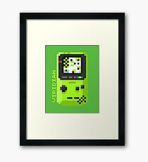 Viridian - Pixel Cities Serie 3/10 Framed Print