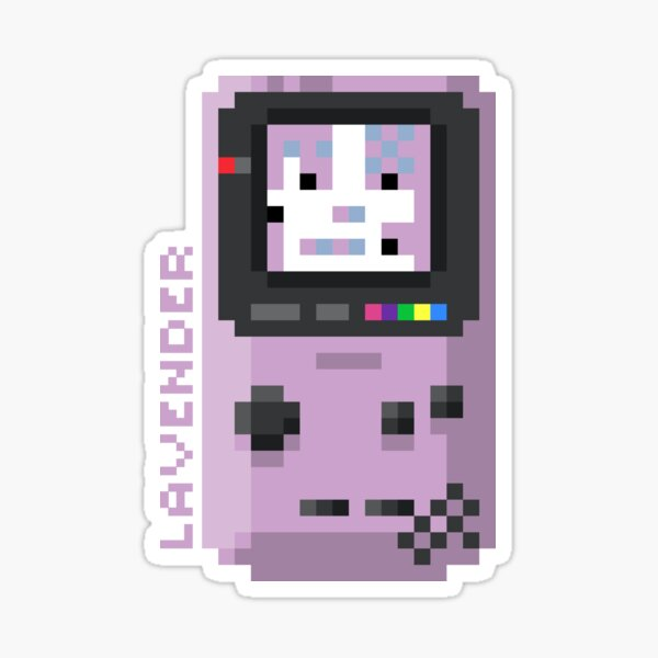 Lavender - Pixel Cities Serie 2/10 Sticker