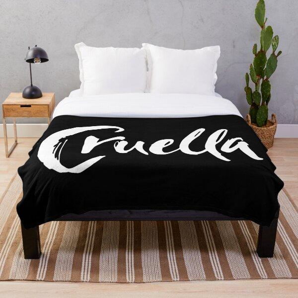 Cruella in black and white Throw Blanket