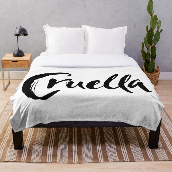 Cruella de Vil in black and white Throw Blanket