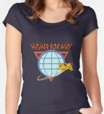 Higher For Hire Women's Fitted Scoop T-Shirt