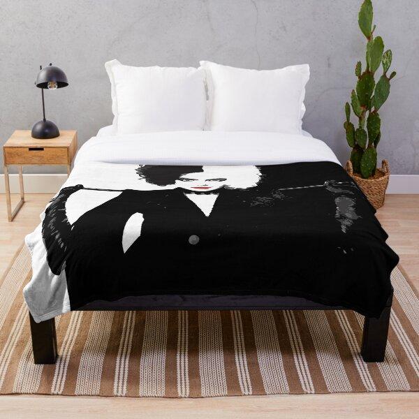 Cruella de Vil Poster Flat Graphic Style Throw Blanket