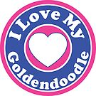 I LOVE MY GOLDENDOODLE DOG HEART I LOVE MY DOG PET PETS PUPPY STICKER STICKERS DECAL DECALS by MyHandmadeSigns