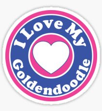 I LOVE MY GOLDENDOODLE DOG HEART I LOVE MY DOG PET PETS PUPPY STICKER STICKERS DECAL DECALS Sticker