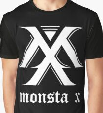 Monsta X Logo White Graphic T-Shirt
