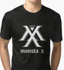 Camiseta de tejido mixto Monsta X Logo White