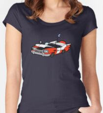 Junk Pile Cats Cadillac Women's Fitted Scoop T-Shirt