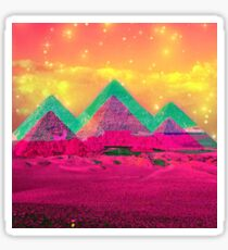 Trippy Pyramids Sticker
