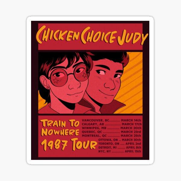 affiche de la tournée judy au choix du poulet (train à l'infini) Sticker