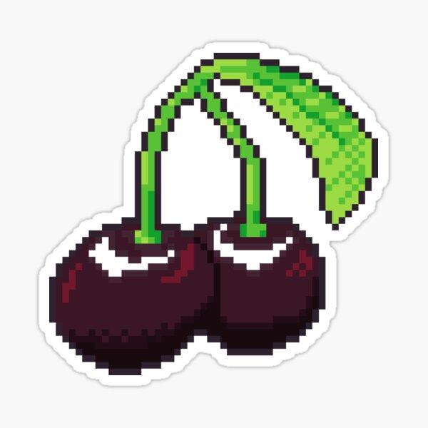 Cherry Pixel Sticker
