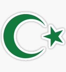 Pakistan, Pakistani, Star and crescent, Islam, Islamic, Ottoman Empire Sticker